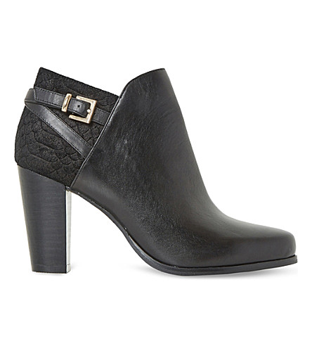 DUNE Oak suede ankle boots (Black-leather+mix