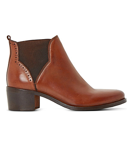 DUNE Parnell leather ankle boots (Tan-leather