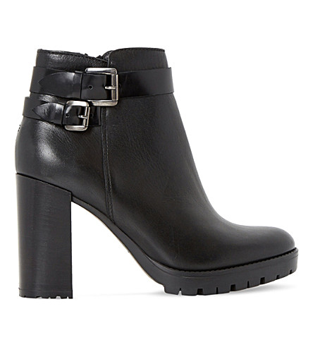 DUNE Pettle leather ankle boots (Black leather