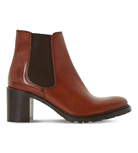 DUNE Podrik Leather Chelsea Boots (Tan-leather