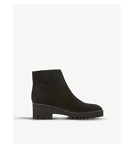DUNE Palmas flatform suede ankle boots (Black