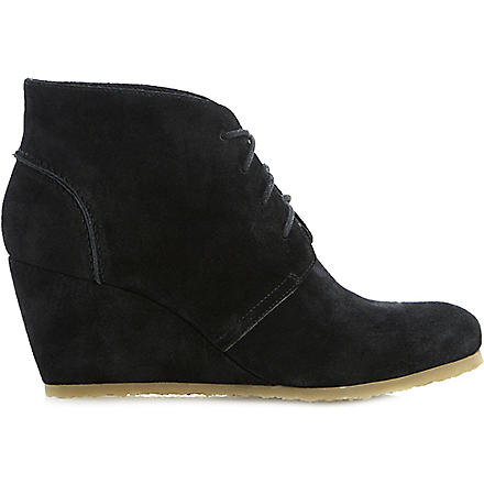 DUNE Praff wedge boots (Black-suede