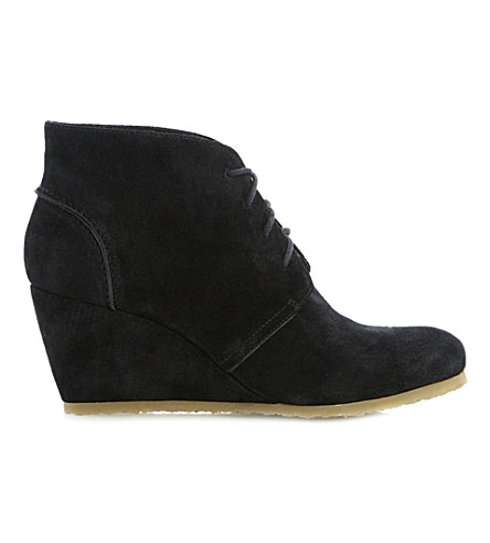 DUNE Praff wedge boots (Black-suede