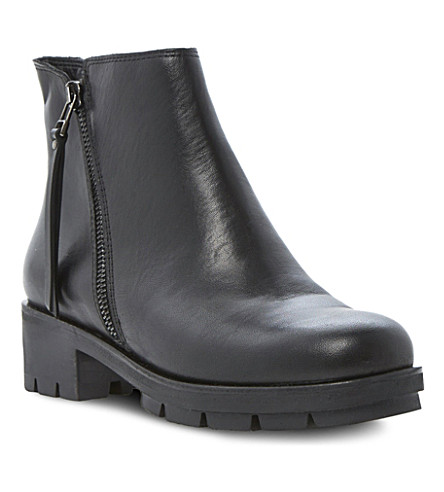DUNE Phoebe chunky ankle boots (Black leather