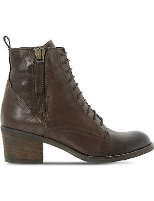 DUNE Percey leather lace-up ankle boots