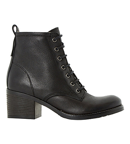 DUNE Patsie lined leather ankle boots (Black leather