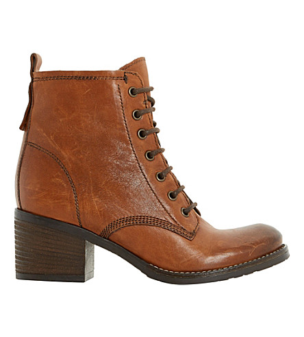 DUNE Patsie lined leather ankle boots (Tan-leather