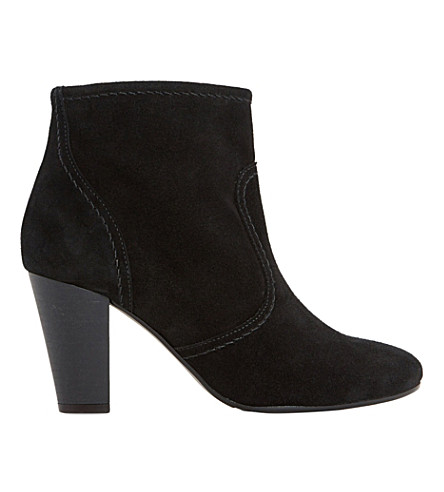 DUNE Portia suede ankle boots (Black suede