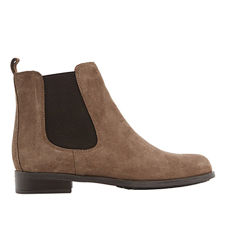 DUNE Parry suede Chelsea boots (Taupe-suede