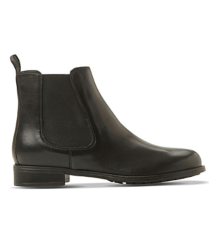 DUNE Parrys leather chelsea boots (Black-leather