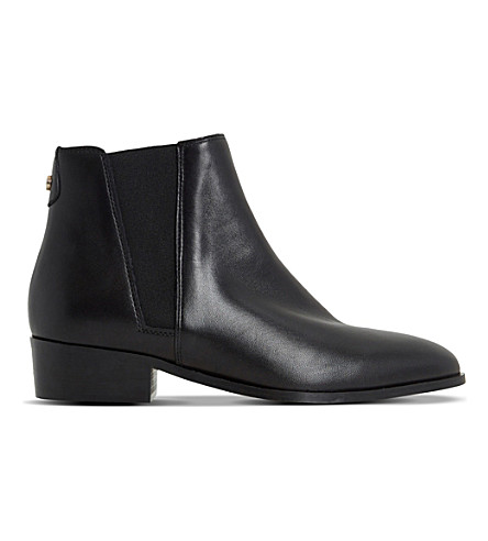 DUNE Pearce leather Chelsea boots (Black-leather