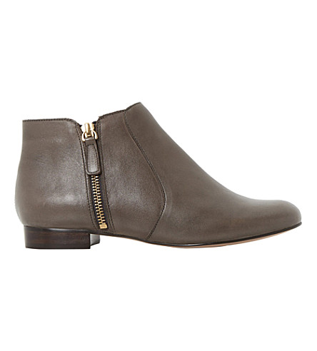 DUNE Pandas leather ankle boots (Taupe leather