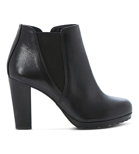 DUNE Pug ankle boots (Black leather