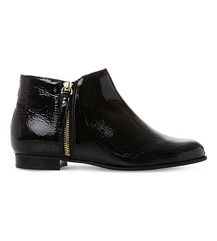 DUNE Pander patent leather ankle boots (Black-patent