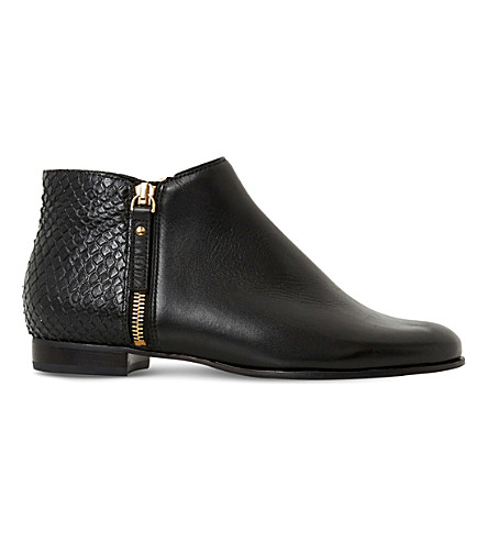 DUNE Pander textured leather ankle boots (Black-leather