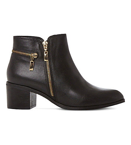 DUNE Pemberley leather ankle boots (Black-leather