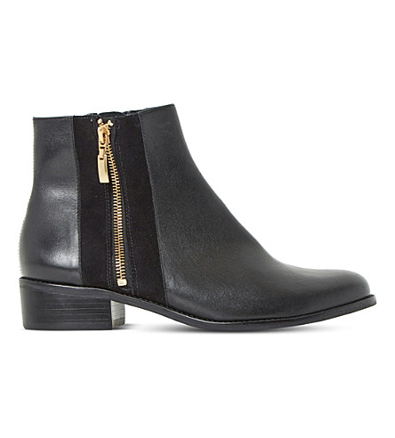 DUNE Pauler leather ankle boots (Black-leather
