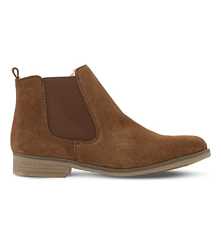 DUNE Prompts faux fur-lined ankle boots (Tan-suede