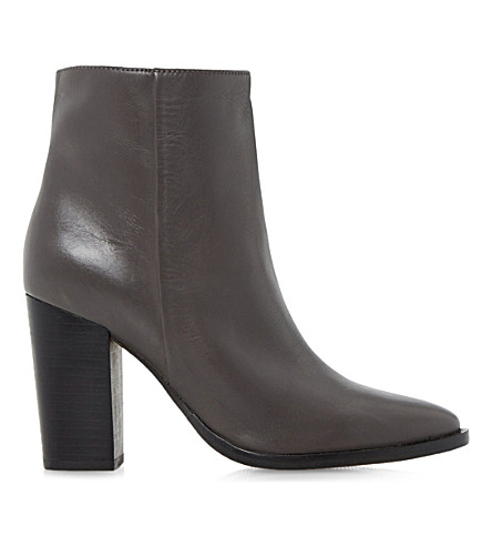 DUNE Prestonn leather ankle boots (Grey-leather