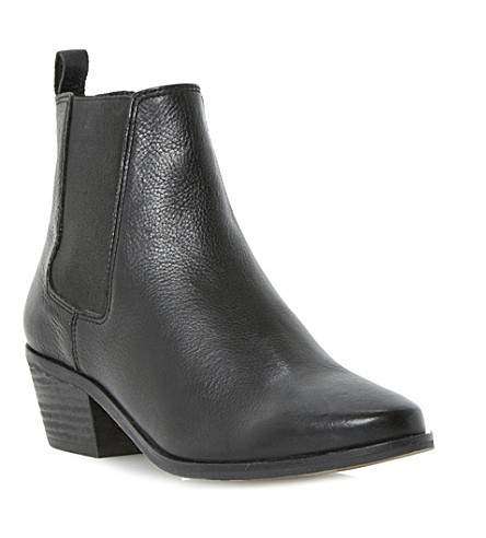DUNE Petra leather ankle boots (Black leather