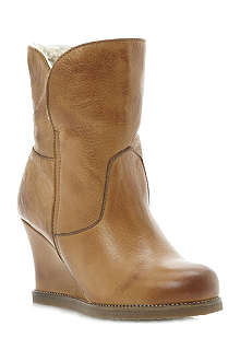 DUNE Pan wedge boots