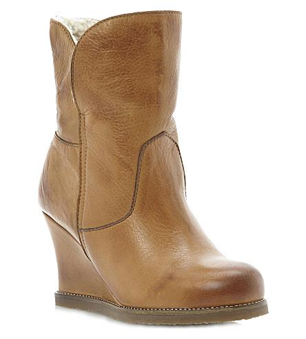 dune pan wedge boots selfridges