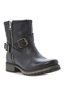 DUNE Promiss leather buckle ankle boots