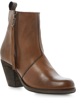 DUNE Platter leather ankle boots