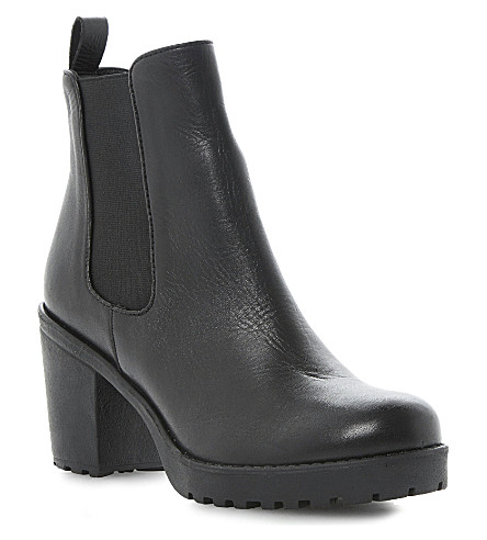 DUNE Pring leather cleated ankle boots (Black leather