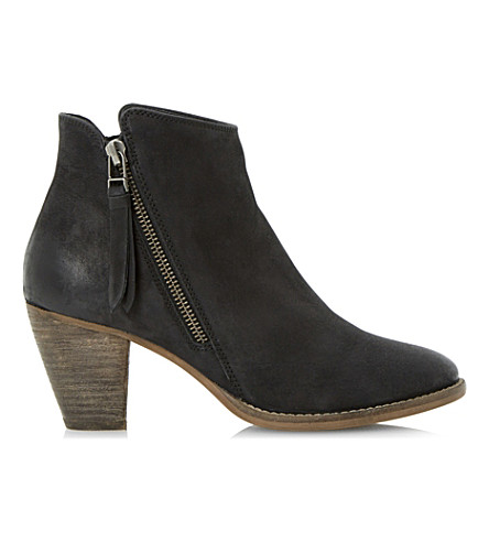 DUNE Pollie leather ankle boots (Black-leather