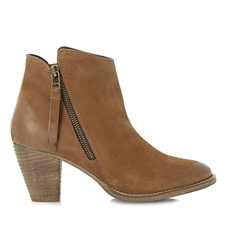 DUNE Pollie leather ankle boots (Tan-leather