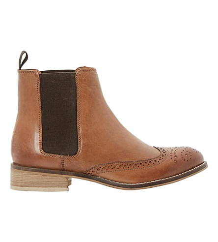 DUNE Quentin leather ankle boots (Tan-leather
