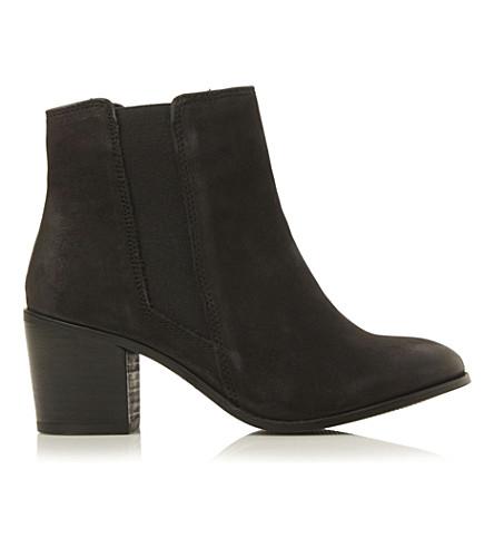 DUNE Peridot suede chelsea boots (Black nubuck