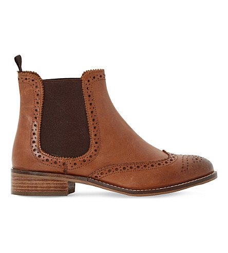 DUNE Quentin leather chelsea boots (Tan-leather
