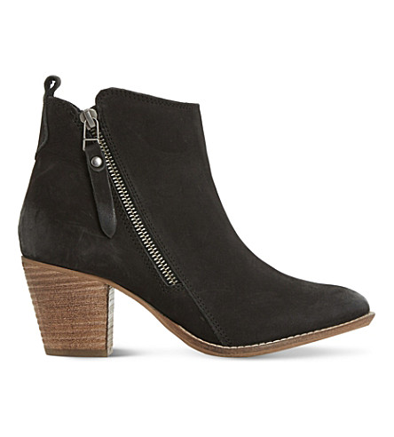 DUNE Pontoon leather ankle boots (Black-nubuck