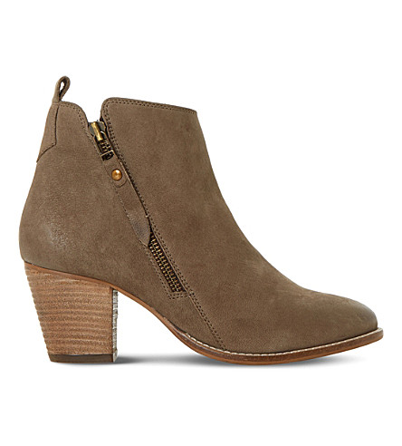 DUNE Pontoon leather ankle boots (Dark+taupe