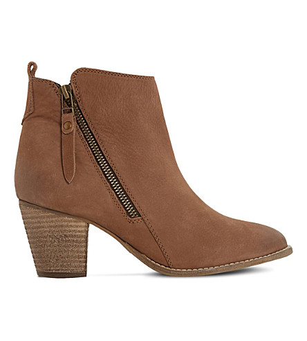 DUNE Pontoon leather ankle boots (Tan-nubuck