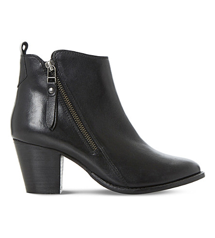 DUNE Pontoon leather ankle boots (Black-leather