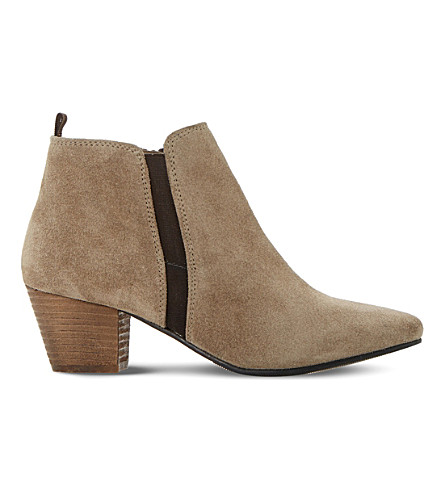 DUNE Perdy suede ankle boots (Taupe-suede