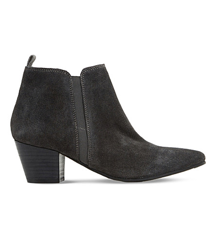 DUNE Perdy suede ankle boot (Grey-suede
