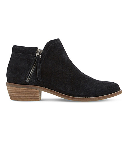 DUNE Pollyanna suede ankle boots (Black-suede