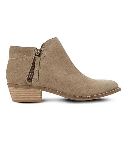 DUNE Pollyanna suede ankle boots (Taupe-suede