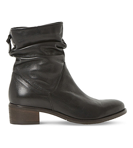 DUNE Pager leather ankle boots (Black-leather