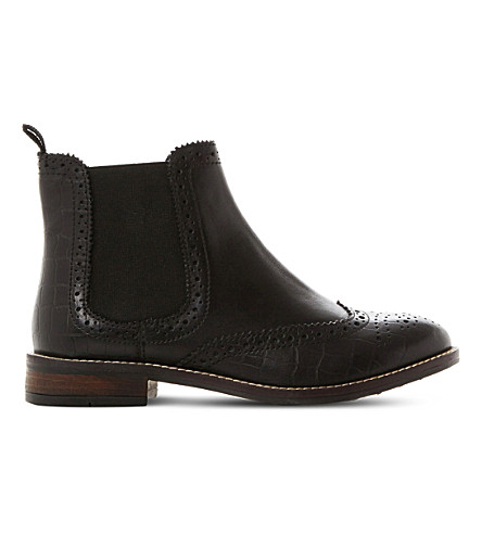 DUNE Quentons leather chelsea boots (Black-leather