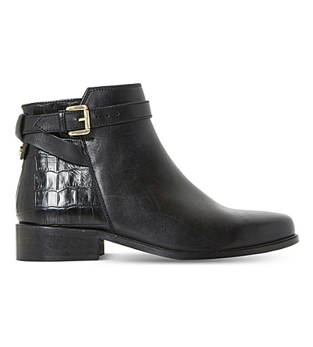 DUNE Poppy leather ankle boots (Black-leather