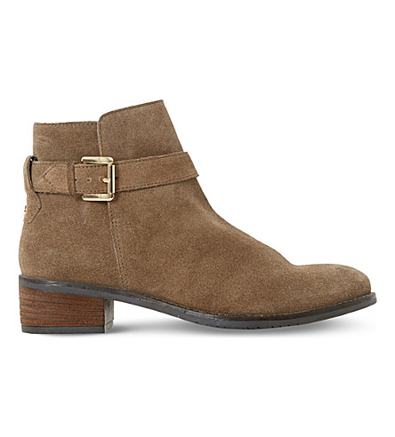 DUNE Pheobie block-heeled Chelsea boots (Taupe-suede