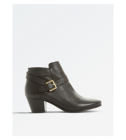 DUNE Perdy heeled ankle boots (Black-leather
