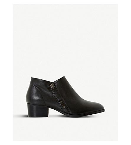 DUNE 帕丁顿皮革脚踝靴 (黑色皮革