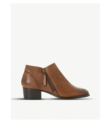 DUNE Padington leather ankle boots (Tan-leather
