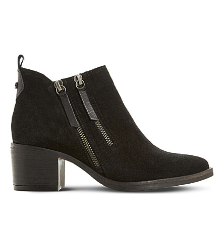 DUNE Pikton double-zip ankle boots (Black-suede